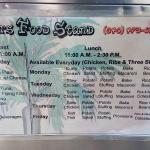 Menu for food truck during the day