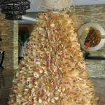Christmas Tree made with corn husks