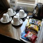 complimentary coffee, tea, light snacks
