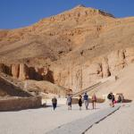 At the entrance to the Valley of the Kings