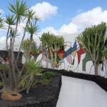Artwork and garden, Cesar Manrique Foundation