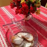 Homemade cookies and fresh flowers from the garden