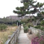 The beach path to the Inn