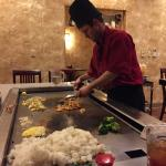 Our great hibachi cook. Great food and personality.