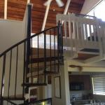 Cool stairs to loft area