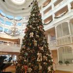 Grand Floridian lobby Christmas tree