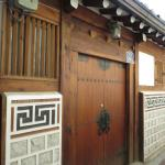 Traditional doors at Buchon Village.