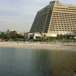 Looking back to hotel across the beach