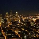 Clear night from space needle