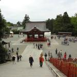 Looking down from the top of the shrine