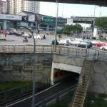 Universiti LRT Station - view from Hotel Cafe