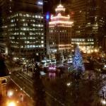 View of Pioneer Courthouse Square from Room 702 on Christmas Eve 2014.