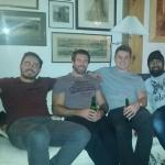 International rugby players on their week long stay over Christmas zac Guilford brock james jono