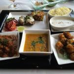 "My Indian ""sampler"" lunch in the hotel's Varq Restaurant"