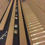 Looking straight up from the lobby on the 8th floor