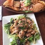 Ceviche and rock shrimp appetizers