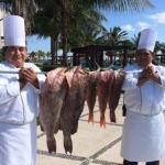 Great food equals great Chef's! Sea Bass and Grouper.