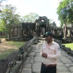Our Guide Meas Sopha at Angkor Temple