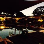 Pool time at dusk