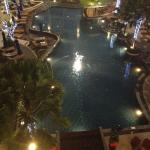 The pool by the night