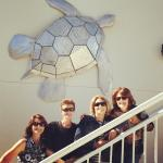 We loved this turtle hanging above the staircase by the pool!