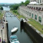 The locks on the Rideau Canal