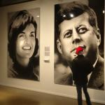 Jacqueline and John Kennedy photomosaics.