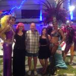 Posing with the dancers of show, Patong Beach hotel