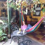 Courtyard- great for relaxing with a book and coffee!
