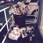 Overflowing Trash Cans in Parking Garage  2 days, no change