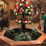 Beautiful wishing well with dress holiday arrangement