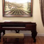 The beautiful old piano