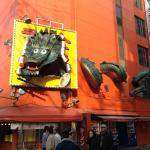 Dotonbori street has many interesting shop fronts, such as these