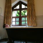 Gorgeous bath with view and sounds of birds chirping