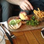 Cheese & bacon burger in the Abode Grill - Very tasty