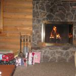 Romatic Relaxation in front of the fireplace