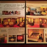 brochure with high-end room pictures