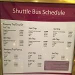 Take a look at their Free Shuttle Bus Schedule ✌️