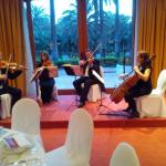 QUARTET AT THE CHRISTMAS EVE GALA DINNER