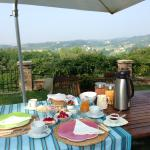 Our private breakfast in the midst of a beautiful garden overlooking the plains leading to Venic