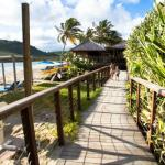 Walk way to beach restaurant