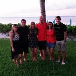 our family at Coral Gardens Christmas