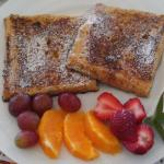 French toast made with John's homemade bread