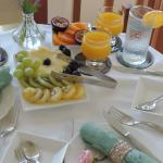 Breakfast made with local fruits when possible