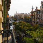 view from room looking towards Place de Catalunya