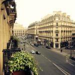 View from balcony on to Avenue de l'Opéra