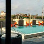 Pool from bar