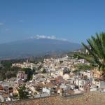 View of Mt Etna from our room terrace
