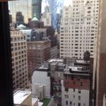 View from window, we don't mind the view off buildings it adds to the NYC feel.