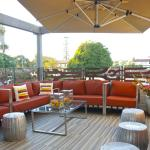 Relax on our upstairs outdoor lounge.